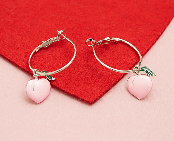 aaa freshwater fwe pink peach earrings pinkpeach pearl p