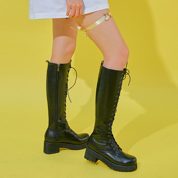 Up To Point Heeled Boots by Chuu