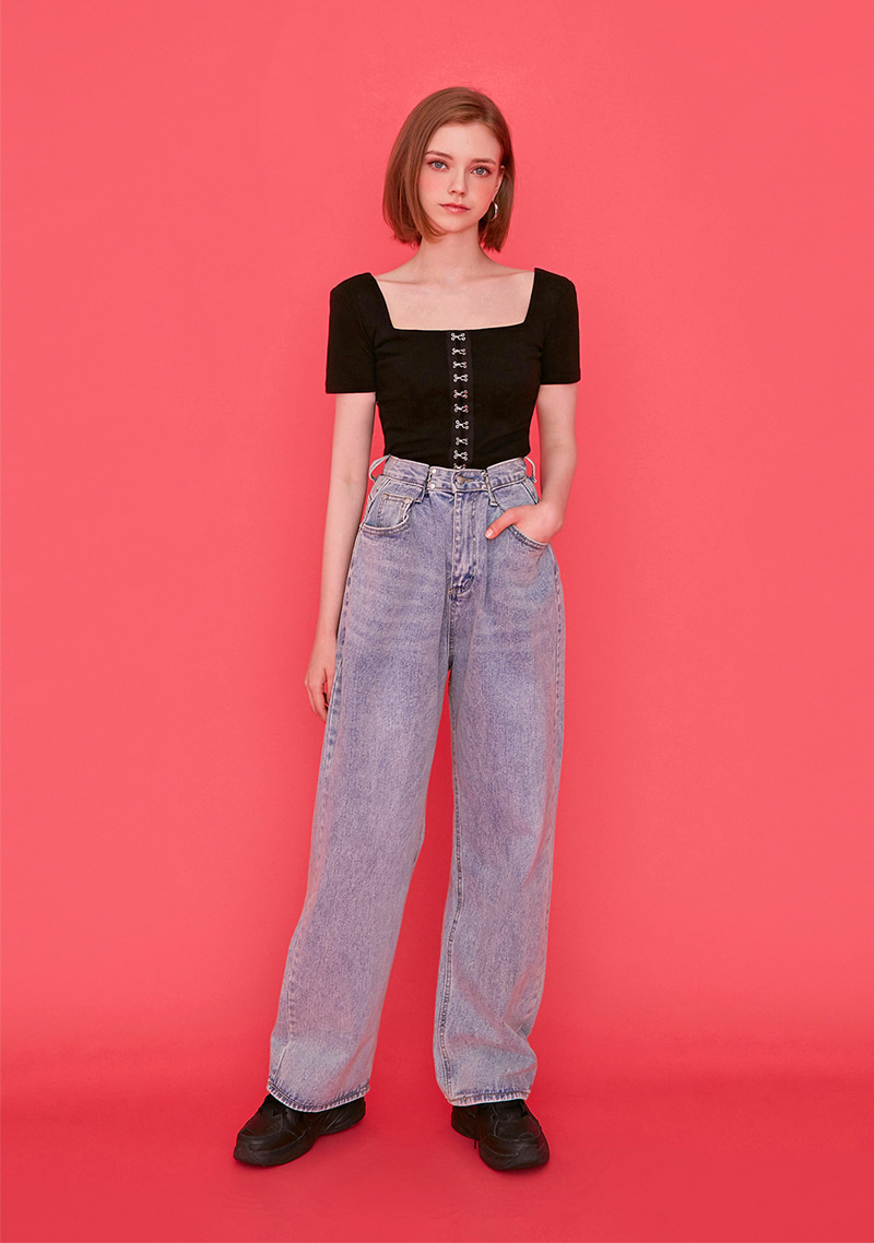 hooked-wide-jeans by chuu