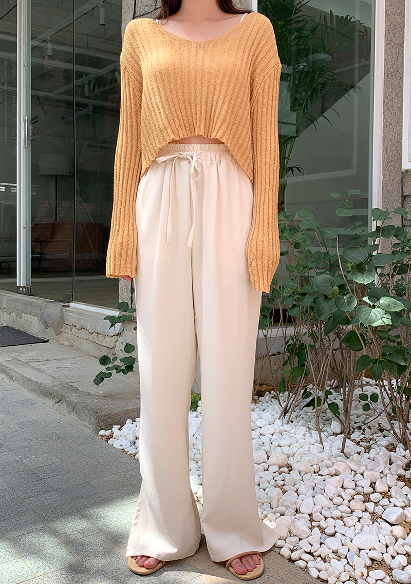 Natural Mood Waistband Pants by Chuu