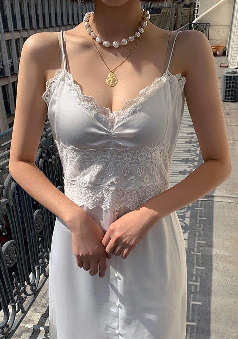 satin-diva-white-dress by chuu